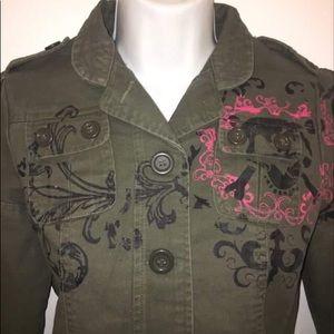 Morbid Threads Vintage Utility Jacket Size Small